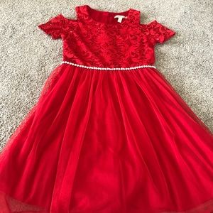 Speechless Red Lace Formal Dress For Girls
